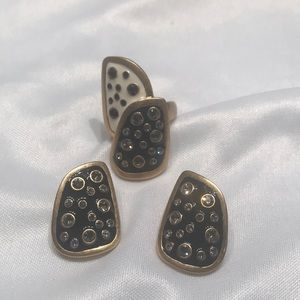 Jewelry - Matching ring and earrings.